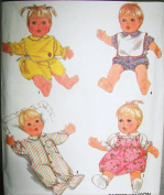 Simplicity 8417 Baby Doll Outfits for 50cm Doll Sewing Pattern, Vintag 1987