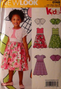 Simplicity New Look Kids 0148 Sewing Pattern Size A (3-8) Dress, Top and Panties