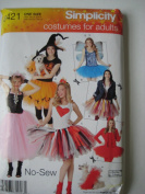 Simplicity O421 No-sew Costumes for Adults One Size