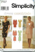 Simplicity Sewing Pattern 7107 Misses' Dress or Top & Skirt, Size H