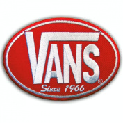 VANS SINCE 1966 SKATEBOARD RED Iron On PATCHES # WITH.