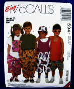 McCall's 5941 ~ Size 3,4 Med ~ Children's T-Shirt, Tank Top, Pants, Shorts, Hat, Easy Learn to Sew for Fun ~ Calhoun Sportswear ~ Sewing Pattern