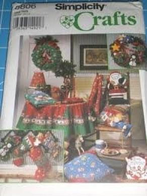 Simplicity 8806 Christmas Crafts