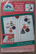 Christmas Reusable Screenpattern Craft Pattern