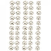 Amico Clothes Sewing 10mm Press Studs Buttons Fastener Silver Tone 50 Pcs