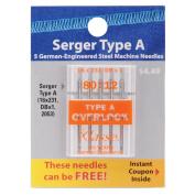 Klasse Serger Machine Needles-80/12 5/Pkg