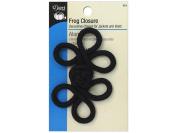 Dritz Frog Closure - Black - Lg. 3 Loop