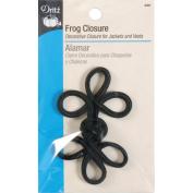 Dritz Frog Closure - Black - Med. 3 Loop