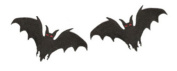 Bat Embroidered Patch (Pack of 2) 7cm X 4cm