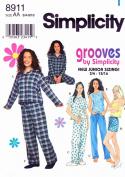 Simplicity Juniors' Pyjamas Pattern 8911 Size BB