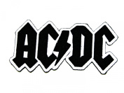 AC/DC rock music band(black and white) iron on patch great gift for Men and Women/Ramakian