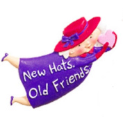 Red Hat Lady New Hats Old Friends Costume Jewellery Pin