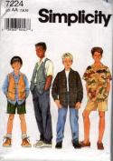 Simplicity 7224 Sewing Pattern Boys Shirt Vest Pants Shorts Size 7 - 10