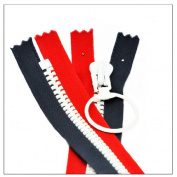 60cm ALL AMERCAN PATRIOTIC Handbag Zipper YKK#8 Vislon with Ring Slider- Heavy Weight ~ Closed End