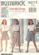 Butterick 6073 - Misses Split Skirt, Fast and Easy - Sizes 12, 14, 16