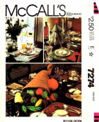 McCall's 7274 Crafts Sewing Pattern Christmas Thanksgiving Table Settings