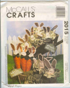 McCall's Crafts Pattern-2015-Cheryl Haynes-Carrot Bunny, Cabbage Bunny and Cabbage