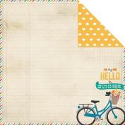 I Heart Summer Double-Sided Cardstock 30cm x 30cm -Hello Summer