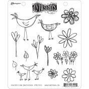 Dyan Reaveley's Dylusions Cling Stamp Collections 22cm x 18cm -How Does Your Garden Grow