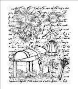 Heartfelt Creations Cling Rubber Stamp Set 13cm x 17cm -Vintage Closet Collage