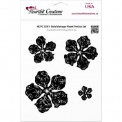 Heartfelt Creations Cling Rubber Stamp Set 13cm x 17cm -Bold Vintage Floret