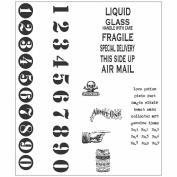 Tim Holtz Cling Rubber Stamp Set 18cm x 22cm -Little Labels