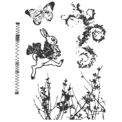 Stampers Anonymous Tim Holtz Cling Rubber Stamp Set, Spring Sprung