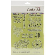 Clear Stamps 15cm x 20cm -Blooming Happy