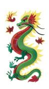 Jolee's Boutique Poseable Dimensional Sticker, Dragon