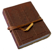 Handcrafted Genuine Hardbound Leather Journal with Parchment Paper (8.9cm x 13cm ) - Vecchio Mondo Series By Viatori