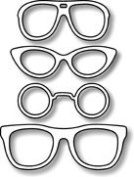 Impression Obsession io Steel Die # DIE048-E Four Sunglasses Die US American Made
