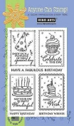 Hero Arts Birthday Frames and Messages Clear Stamp Set