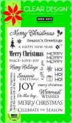 Hero Arts Rubber Stamps Holiday Sayings Clear Stamp Set