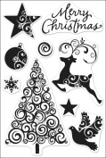 Hero Arts Clear Stamps 4'x6' Sheet Swirl Christmas