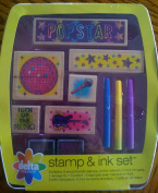 Delta Creative Popstar Stamp and Ink Set in Tin Case