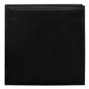 Pioneer 30cm by 30cm Snapload Sewn Leatherette Memory Book, Black