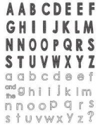 Fashion Alphabet Clear Unmounted Rubber Stamp Set