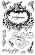 Stampendous Perfectly Clear Stamps 4'X6' Sheet Amore Frame