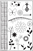 Bugs and Blooms Clear Unmounted Rubber Stamp Set