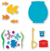 Sizzix Sizzlits Dies 4 IN 1 FISH BOWL SET For Scrapbooking, Card Making & Craft Projects
