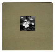 Pioneer 30cm by 30cm Postbound Silk Fabric Frame Front Memory Book, Caramel