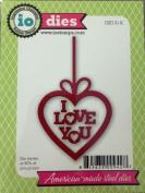 Impression Obsession io Steel Die # DIE131-K I Love You Heart Die US American Made