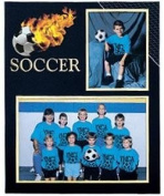 Soccer Player/Team 7x5/3½x5 MEMORY MATES cardstock double photo frame sold in 10's - 5x7