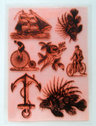 Vintage Antique Engraving (18cm x 25cm ) Large Sheet Clear Stamps