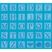 Cuttlebug All-In-One Embossing Plates, Monogram Serif