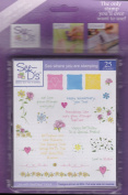See D's Blooming Friendships 25 Rubber Stamps and Case # 50014 Inque Boutique Sugarloaf