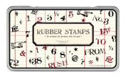 Cavallini Rubber Stamps Numbers & Symbols, Assorted with Ink Pad