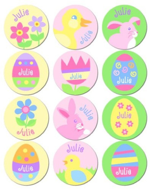 Olive Kids Personalised Easter Stickers Girl Pack