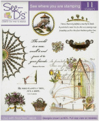 See D's Formal Garden 11 Pure Rubber Stamps + Case # 50214 Inque Boutique Sugarloaf