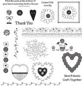 See D's Stitch Fun 21 Rubber Stamps + Case # 50211 Inque Boutique Sugarloaf